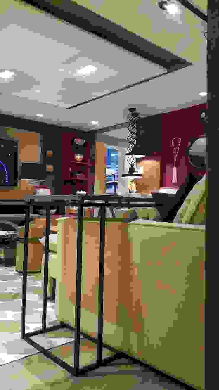 Industrial style living room by Lucio Nocito Arquitetura e Design de Interiores Industrial Copper/Bronze/Brass