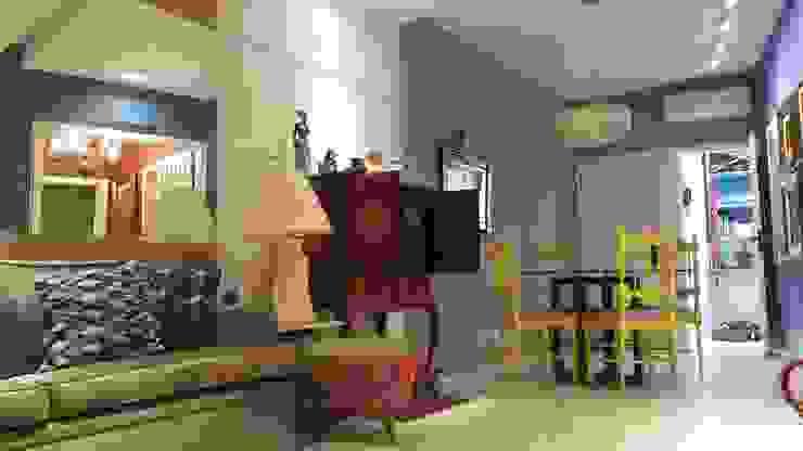 Mediterranean style dining room by Lucio Nocito Arquitetura e Design de Interiores Mediterranean Wood Wood effect