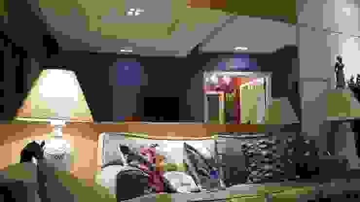 Mediterranean style living room by Lucio Nocito Arquitetura e Design de Interiores Mediterranean Wood Wood effect