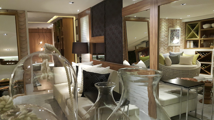 Modern living room by Lucio Nocito Arquitetura e Design de Interiores Modern Iron/Steel