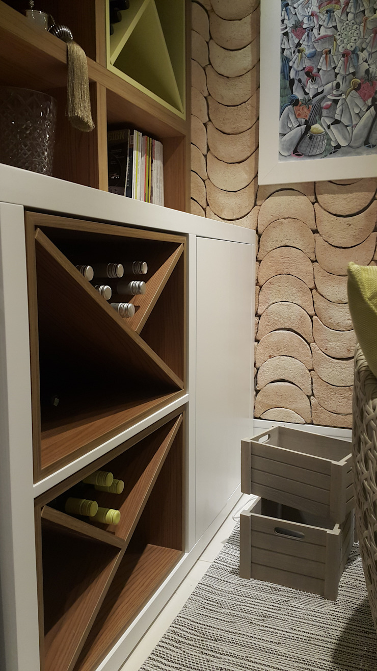 Modern wine cellar by Lucio Nocito Arquitetura e Design de Interiores Modern Engineered Wood Transparent