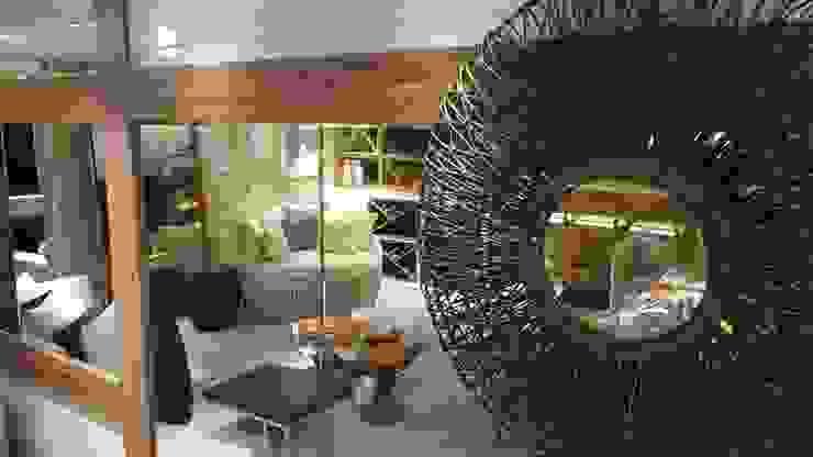 Modern living room by Lucio Nocito Arquitetura e Design de Interiores Modern Copper/Bronze/Brass