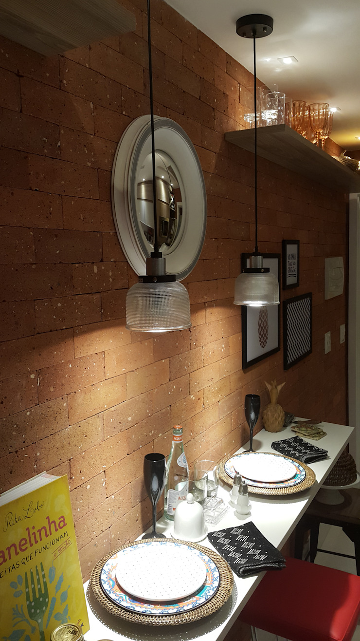 Rustic style kitchen by Lucio Nocito Arquitetura e Design de Interiores Rustic Bricks