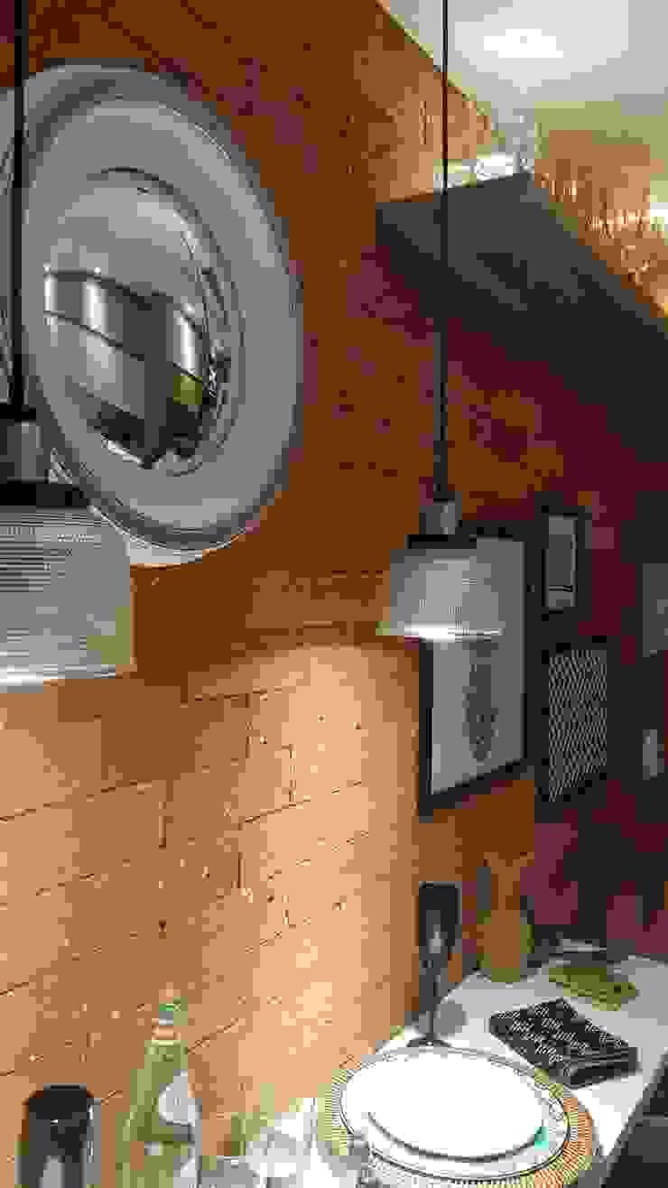 Industrial style dining room by Lucio Nocito Arquitetura e Design de Interiores Industrial Bricks