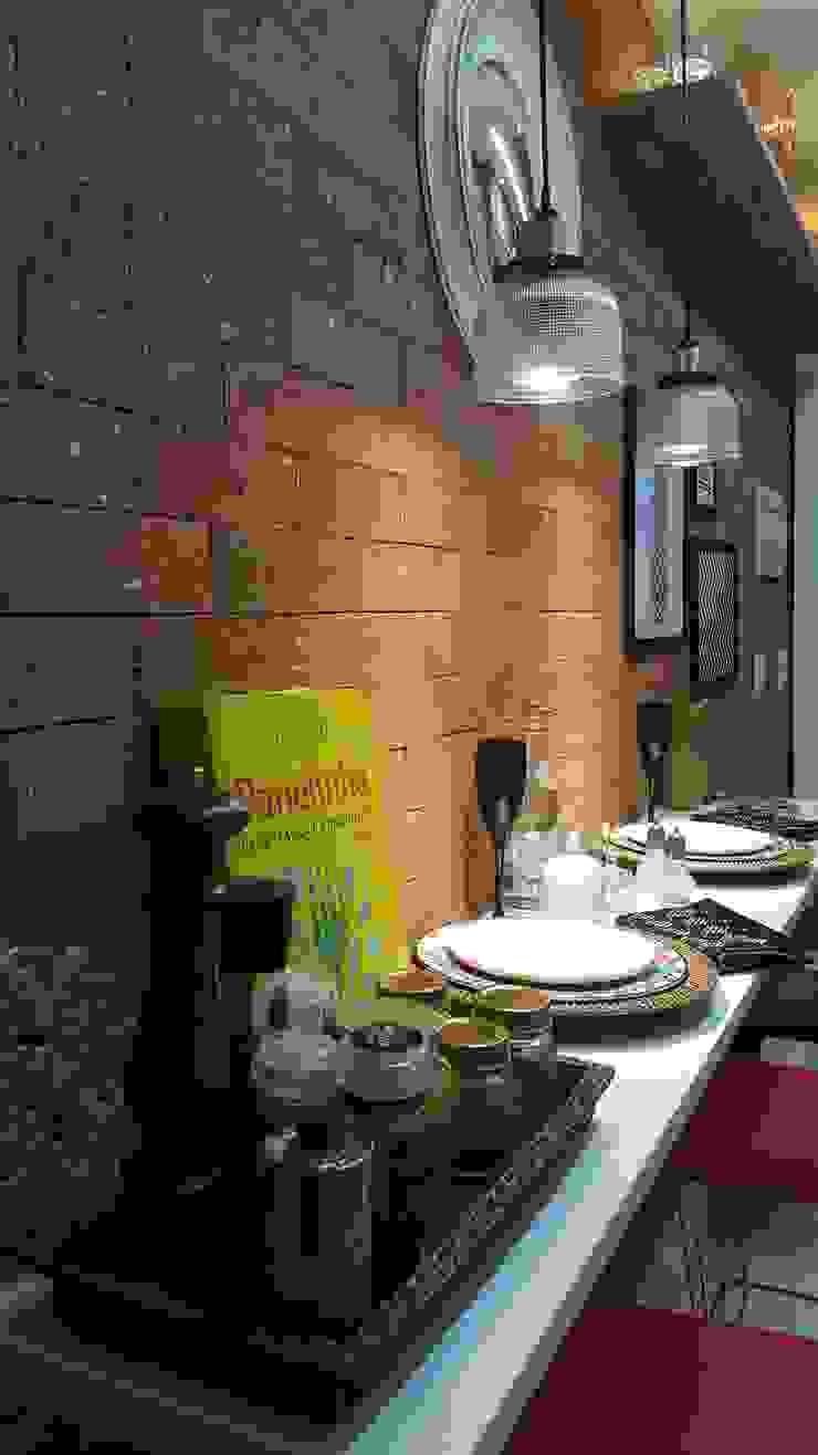 Modern kitchen by Lucio Nocito Arquitetura e Design de Interiores Modern Engineered Wood Transparent