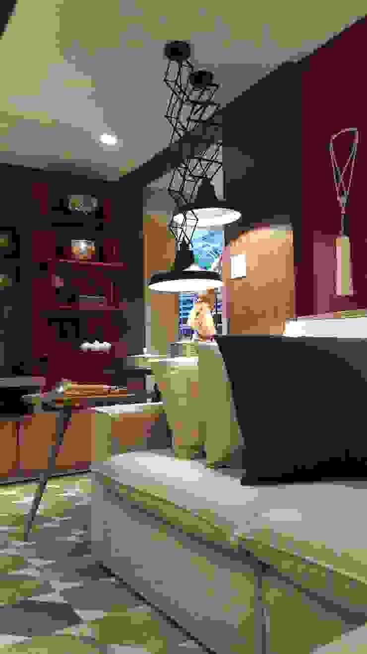 Industrial style living room by Lucio Nocito Arquitetura e Design de Interiores Industrial Metal