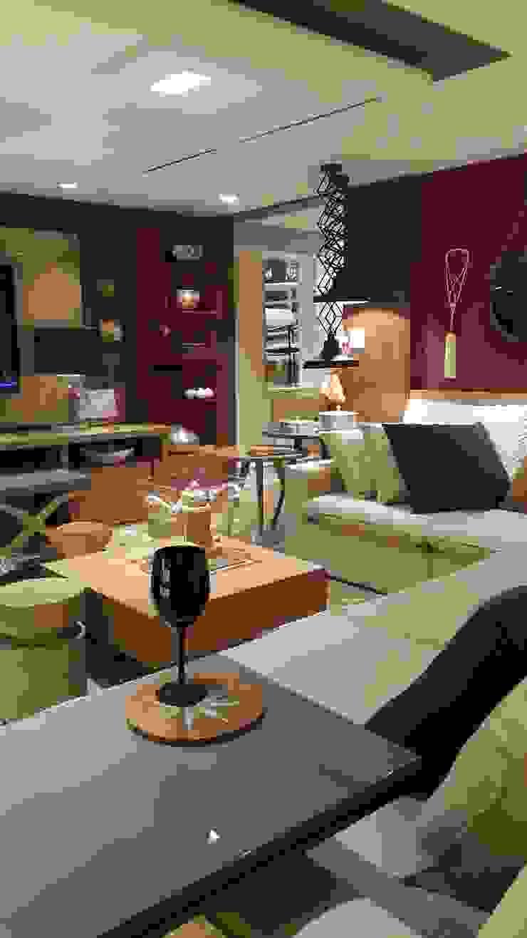 Industrial style living room by Lucio Nocito Arquitetura e Design de Interiores Industrial Iron/Steel