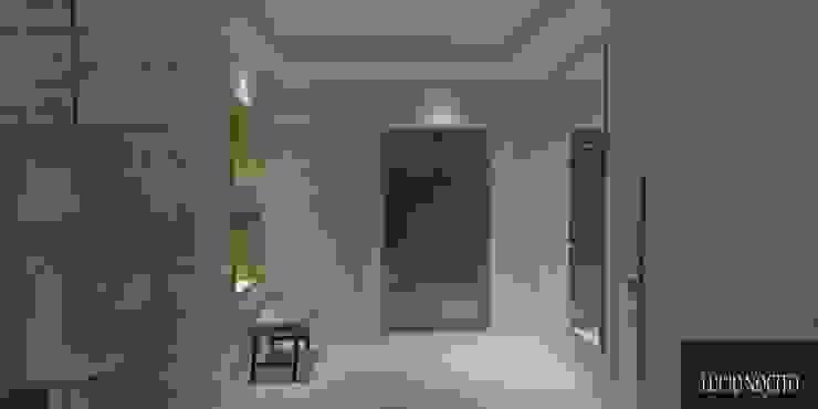 Minimalist corridor, hallway & stairs by Lucio Nocito Arquitetura e Design de Interiores Minimalist Ceramic