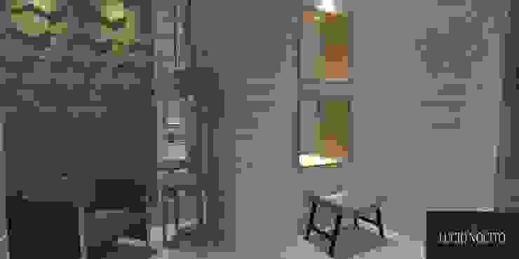Modern corridor, hallway & stairs by Lucio Nocito Arquitetura e Design de Interiores Modern Wood Wood effect