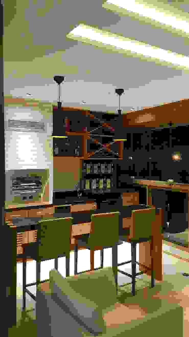 Rustic style wine cellar by Lucio Nocito Arquitetura e Design de Interiores Rustic Engineered Wood Transparent