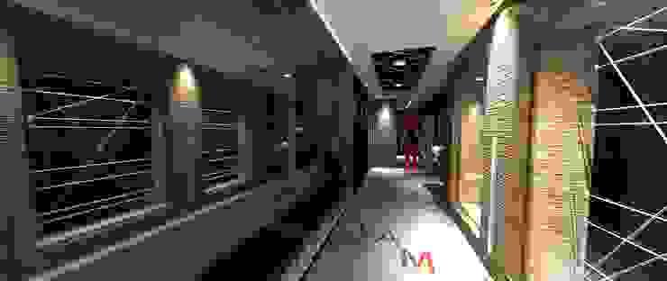 Industrial style gym by Lucio Nocito Arquitetura e Design de Interiores Industrial Concrete