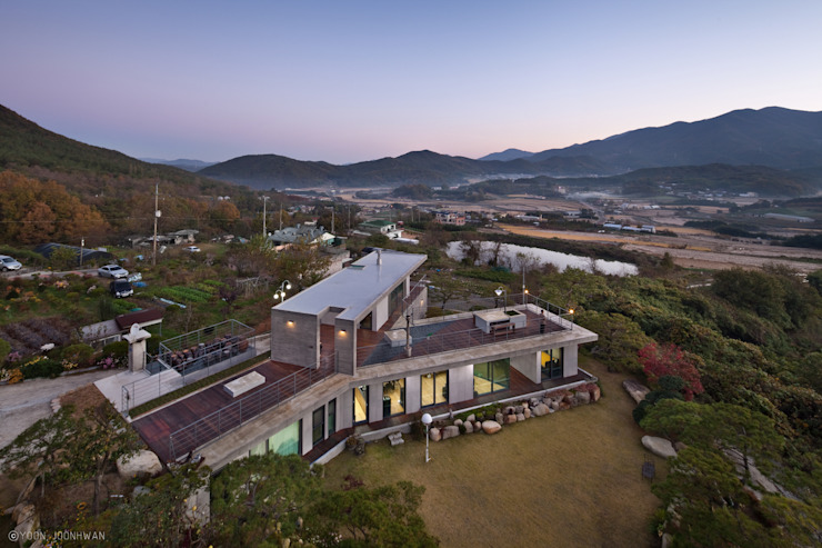 Y-HOUSE 아시아스타일 주택 by ON ARCHITECTURE INC. 한옥