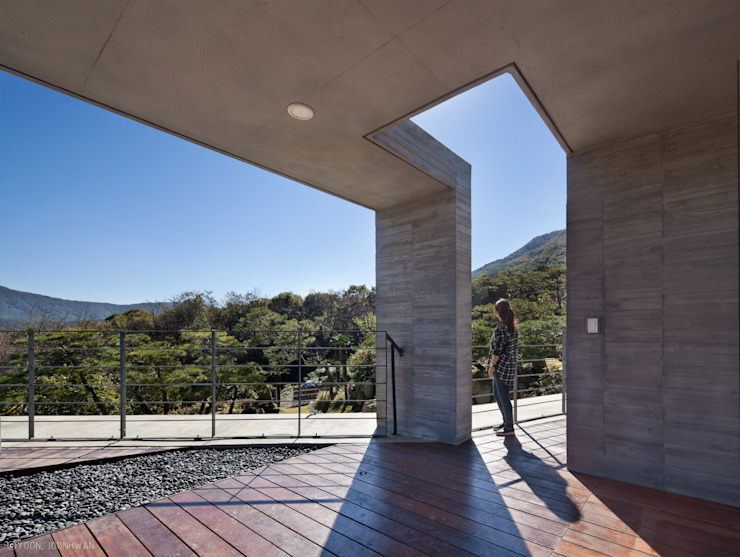 Y-HOUSE 아시아스타일 주방 by ON ARCHITECTURE INC. 한옥