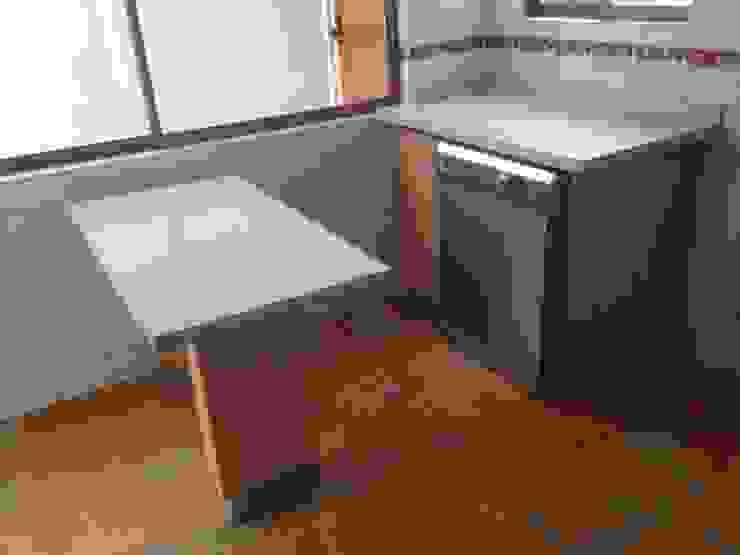 Cocinas de estilo minimalista de N.Muebles Diseños Limitada Minimalista Aglomerado