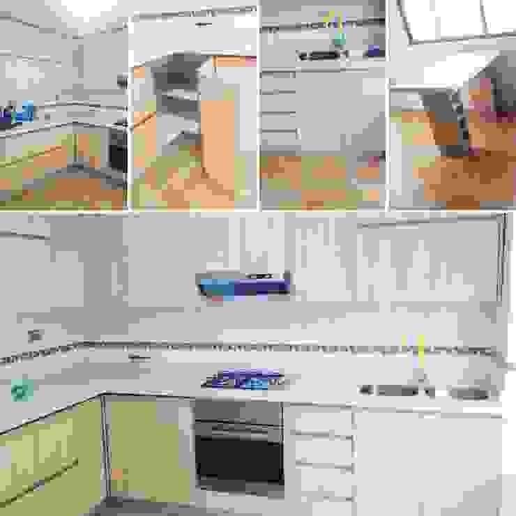 Minimalistische Küchen von N.Muebles Diseños Limitada Minimalistisch Holzspanplatte