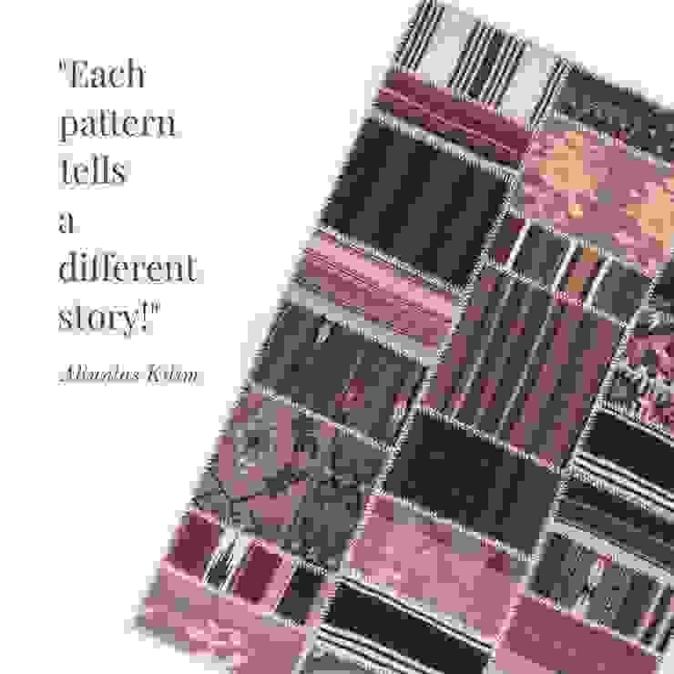 Altuntaş Kilim – El yapımı patchwork kilim: minimalist tarz , Minimalist Yün Turuncu