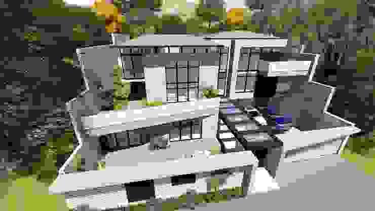 Proyecto Casa Querales Californiana 02 Casas de estilo clásico de homify Clásico Concreto