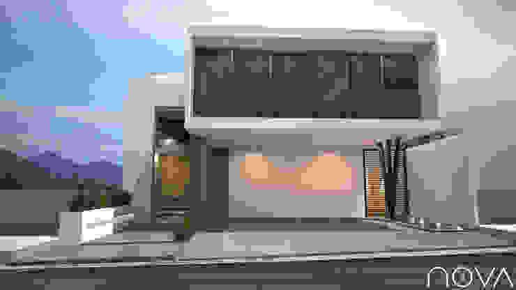 Fachada principal Casas modernas de homify Moderno