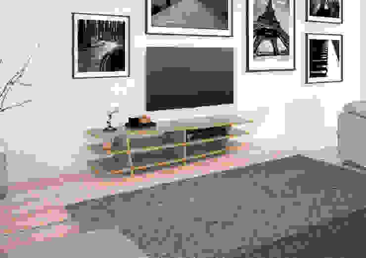 TV-Lowboard Optia: modern  von form.bar,Modern Holzwerkstoff Transparent
