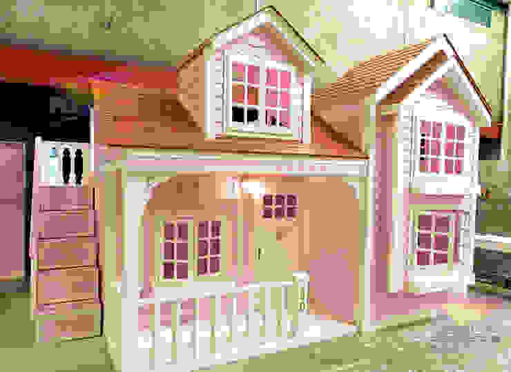 Inigualable Casita Señorial de camas y literas infantiles kids world Clásico Derivados de madera Transparente