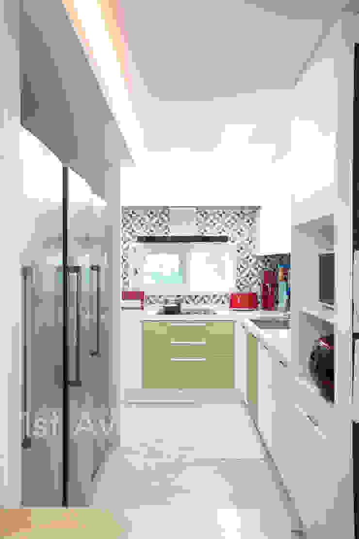 가족들에게 꼭 맞춰진 아이템들로 채워진 새집같은 우리집 리모델링 모던스타일 주방 by 퍼스트애비뉴 모던