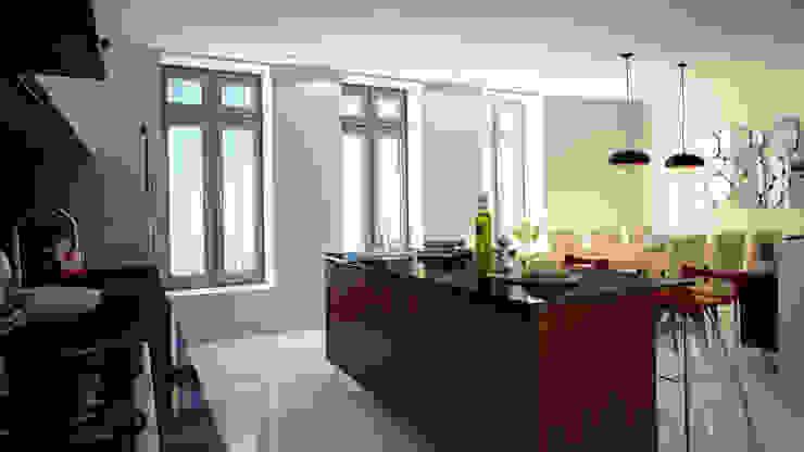 Cocina Cocinas modernas de Citlali Villarreal Interiorismo & Diseño Moderno