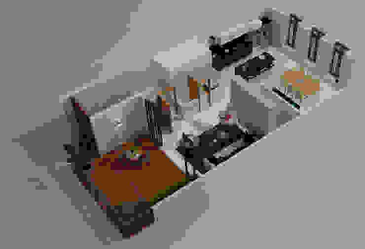 Planta Alta Balcones y terrazas modernos de Citlali Villarreal Interiorismo & Diseño Moderno