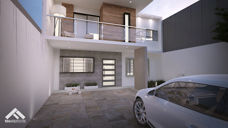 CASA EV Casas minimalistas de FERAARQUITECTOS Minimalista Concreto