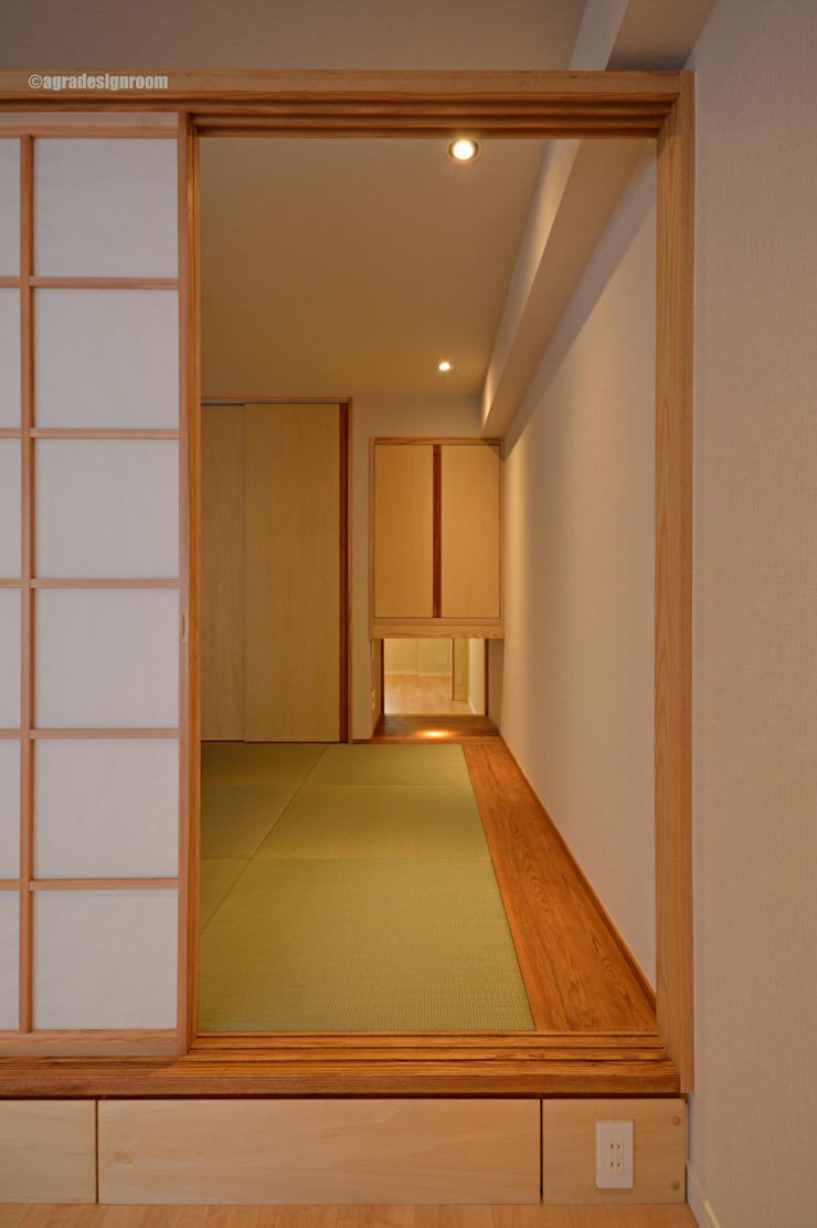 Bypath del viento y los niños. アグラ設計室一級建築士事務所 agra design room Salas de estilo ecléctico