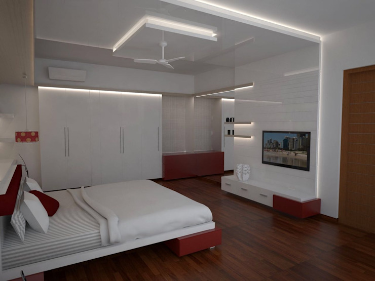 residential project - Bangalore Classic style bedroom by Studio Polygon Classic Engineered Wood Transparent