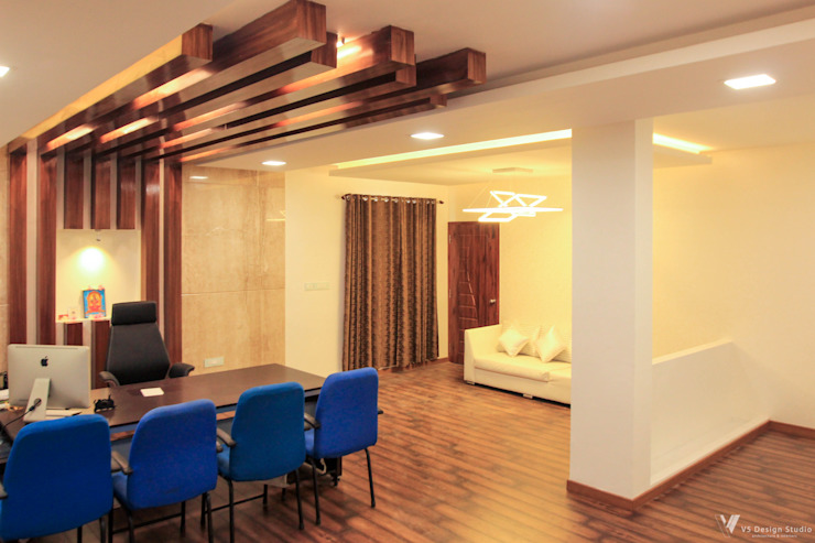 GKM College of Engineering—CEO Room Modern study/office by V5 Design Studio Modern Wood Wood effect