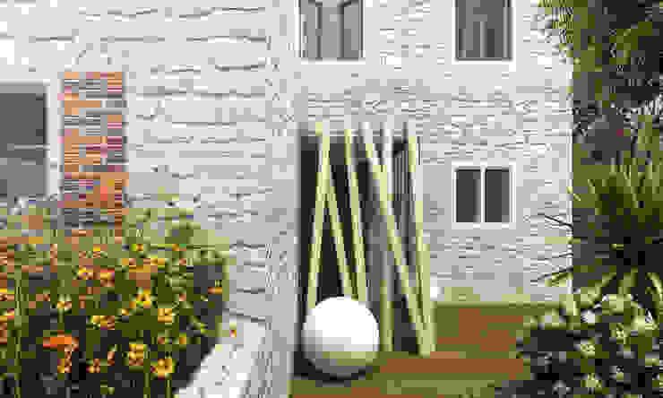Architetto Luigia Pace Modern conservatory Wood Beige