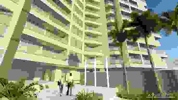Conjunto de Apartamentos <q>Puerto Plata</q> Balcones y terrazas de estilo moderno de Grupo JOV Arquitectos Moderno