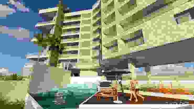 Conjunto de Apartamentos <q>Puerto Plata</q> Piscinas de estilo moderno de Grupo JOV Arquitectos Moderno