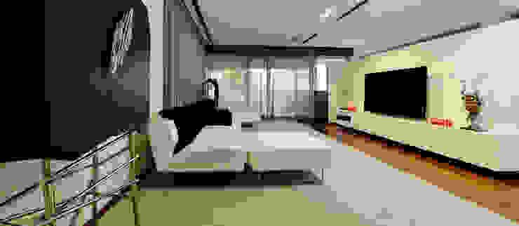Sala de Estar - Projeto Casa das Artes Salas de estar minimalistas por Musa Décor Minimalista