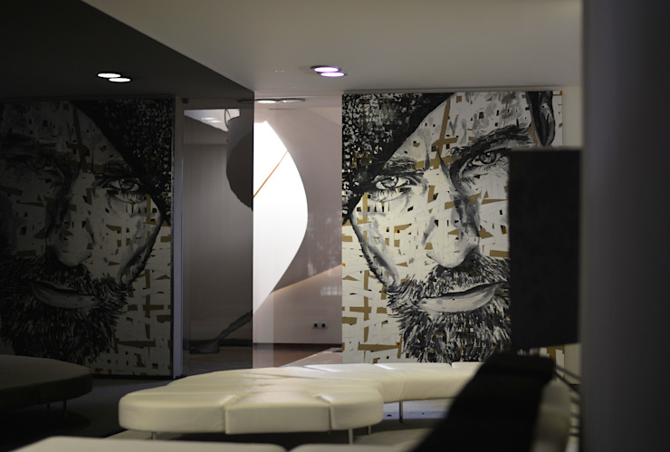 Sala de Estar - Casa das Artes by Musa Décor Espaços de trabalho minimalistas por Musa Décor Minimalista