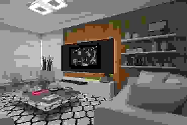 Modern media room by Barbara Lourenci Arquitetura e Interiores Modern