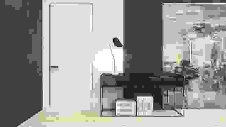 GRAY Гостиная в стиле минимализм от Polka architecture studio Минимализм