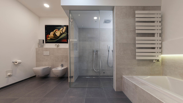 Kühl und Elegant Boddenberg Moderne Badezimmer Grau