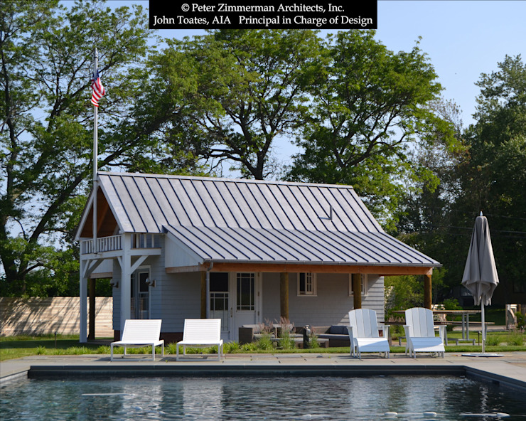 Front Facade Boathouse John Toates Architecture and Design 泳池