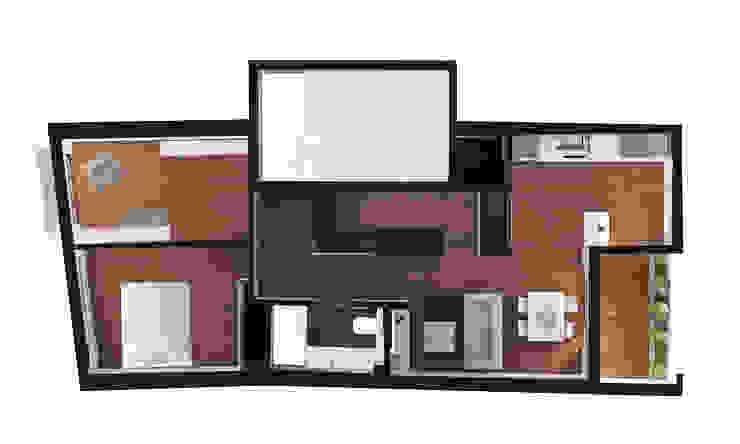 Reformulaçao de um apartamento no centro historico Casas minimalistas por 2L'atelier arquitectos Minimalista