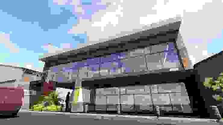 Proyecto para Laboratorio en Miami Garajes y galpones industriales de Ghalmaca Arquitectura Industrial Ladrillos