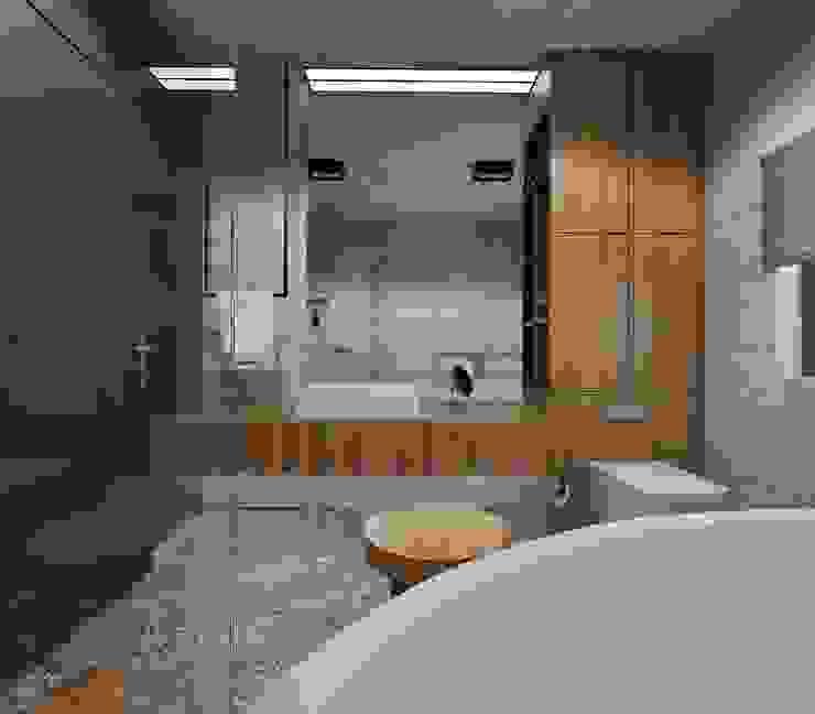 Phòng tắm phong cách tối giản bởi Ale design Grzegorz Grzywacz Tối giản