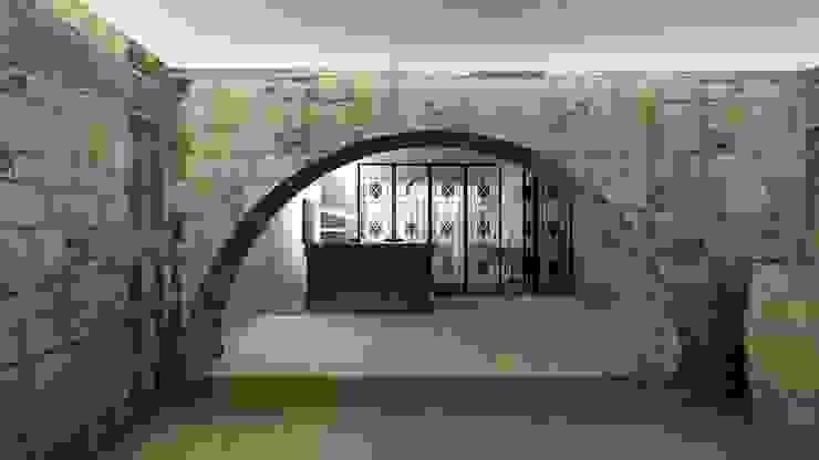 Espaço da Loja Adegas modernas por A3 Ateliê Academia de Arquitectura Moderno Granito