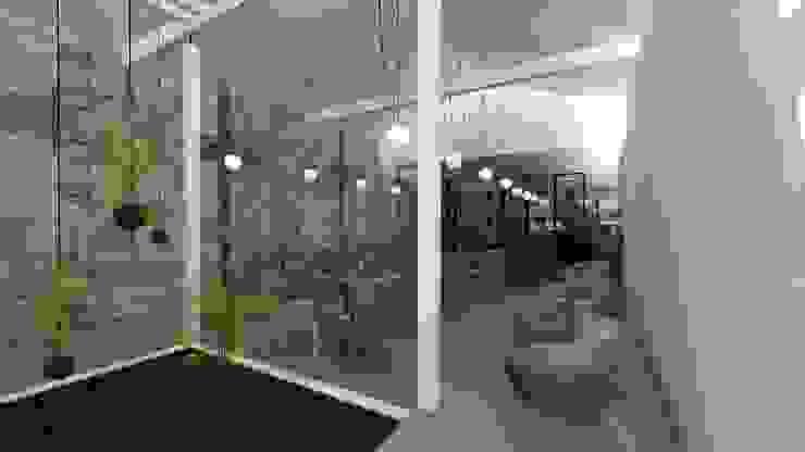 Sala Salas de estar modernas por A3 Ateliê Academia de Arquitectura Moderno Granito