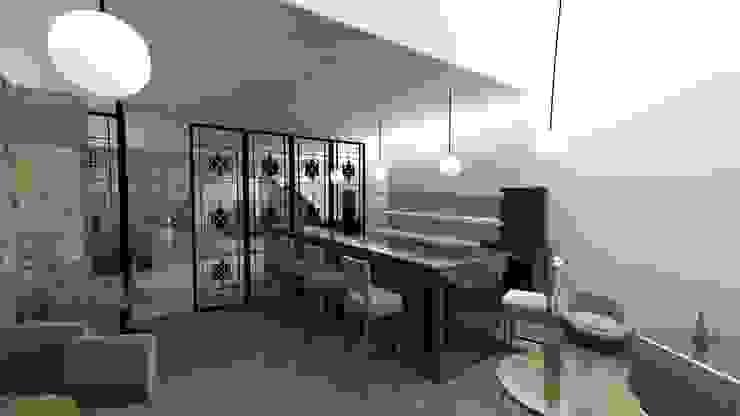 Balcão do Bar Adegas modernas por A3 Ateliê Academia de Arquitectura Moderno Madeira Acabamento em madeira