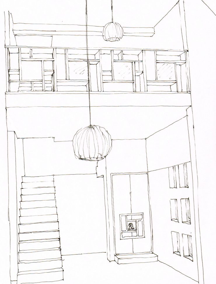 Azjatycki korytarz, przedpokój i schody od A3 Ateliê Academia de Arquitectura Azjatycki