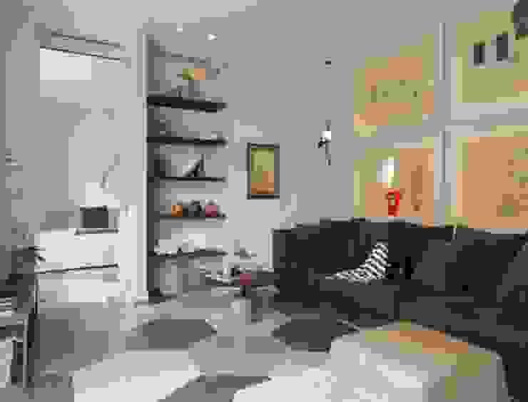 soggiorno casa al mare colori naturali Soggiorno in stile mediterraneo di architettotorregrossa Mediterraneo Cemento
