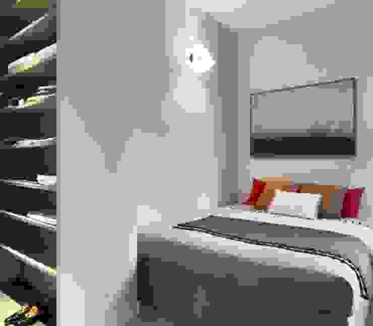 camera ospiti Camera da letto in stile mediterraneo di architettotorregrossa Mediterraneo MDF