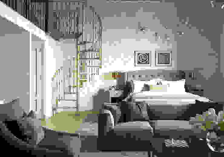 Dormitorios de estilo industrial de Alexander Krivov Industrial Ladrillos